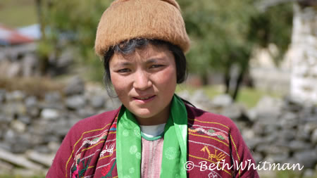 Eastern Bhutan Trek Young Woman in Sakten