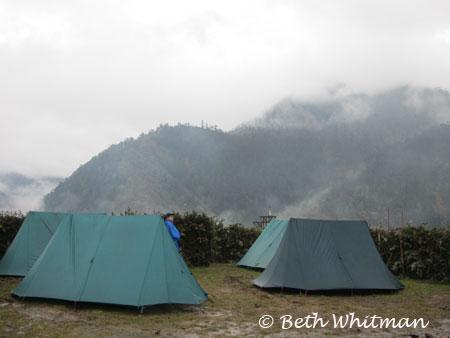 Eastern Bhutan trek - camp night 2