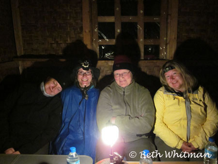 Eastern Bhutan trek - camp night 2 at dinner
