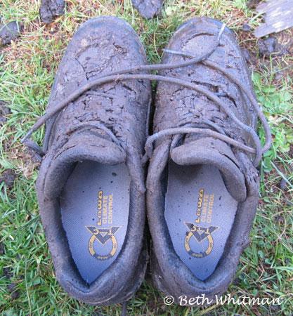 Lowa hiking shoes during trek