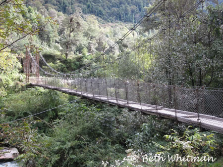 Eastern Bhutan Trek - suspension bridge
