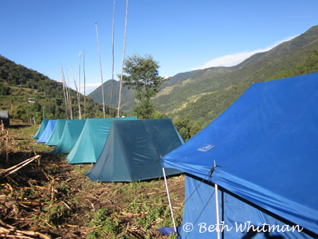 Eastern Bhutan trek - camp