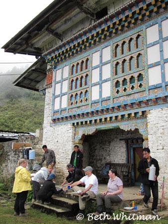 Lunch during trek in Eastern Bhutan