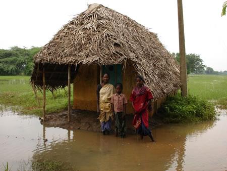 Flooded Hut in Karunganni