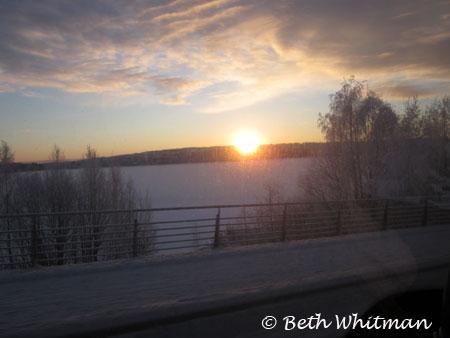 Sunrise in Hamar, Norway