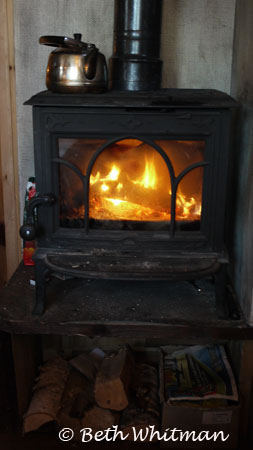 Treetop Hut Fireplace in Hamar, Norway