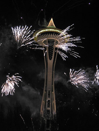 Seattle Space Needle Fireworks