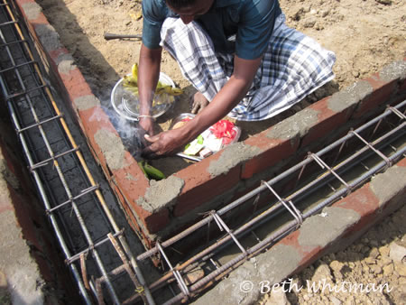 Puja for the building of LAFTI homes in Tamil Nadu