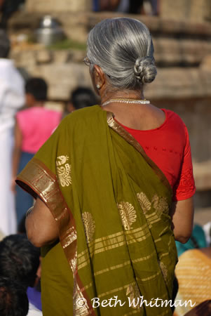 Indian Woman at Temple