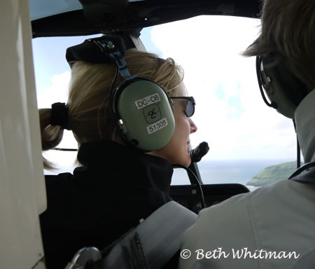 Beth Whitman on Helicopter