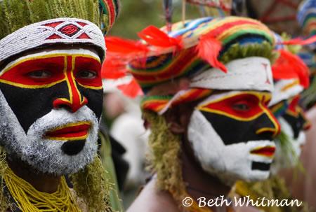 Papua New Guinea - Men at Mt. Hagen Singsing