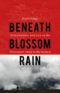 Beneath the blossom rain