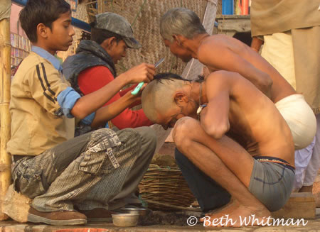 Varanasi Haircut