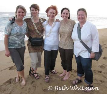 Women on Beach in India