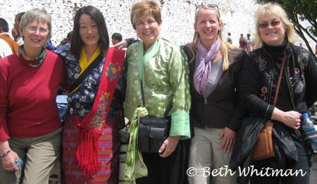 Women's tour in Paro Bhutan