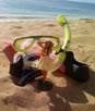 snorkel on beach