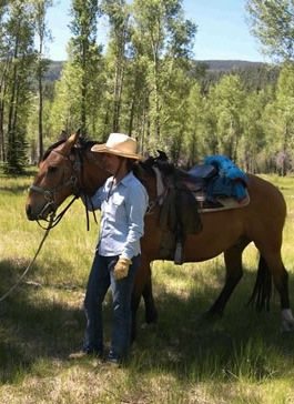 kerri and horse in colorado