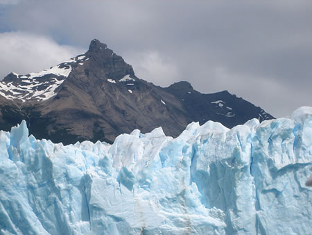 Argentina mountain and glacier