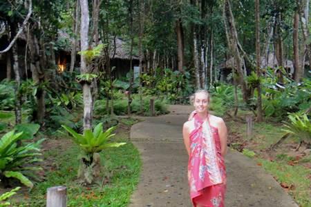 Thailand Tourist in Sarong