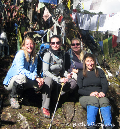 Group at Pass in Bhutan