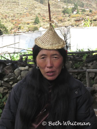 Laya Woman with Hat in Bhutan