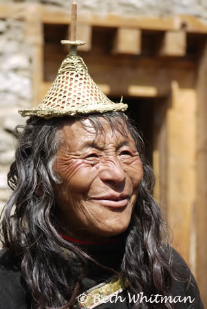 Laya Woman in Bhutan