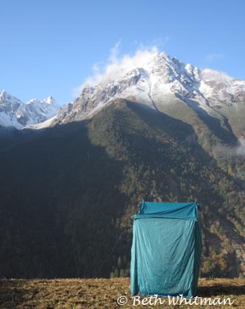 Pit Toilet on Laya Trek Bhutan