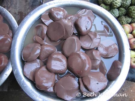 Black Tofu in Burma