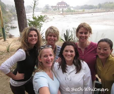 Group using Xshot in Punakha Bhutan