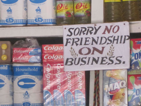 No Friendship sign
