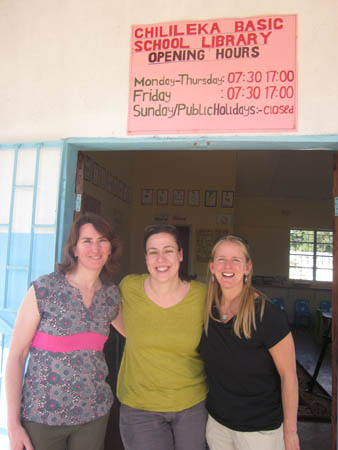 Passports with Purpose Gals at Library in Zambia