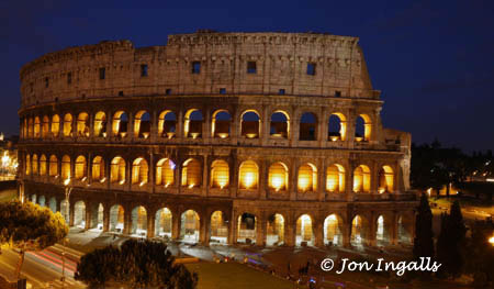 Rome Colloseum at Night