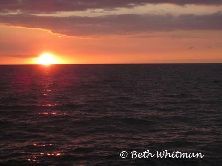Sunset from Boat Hawaii Island