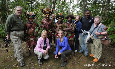 Wandertours Group in Tari, Papua New Guinea