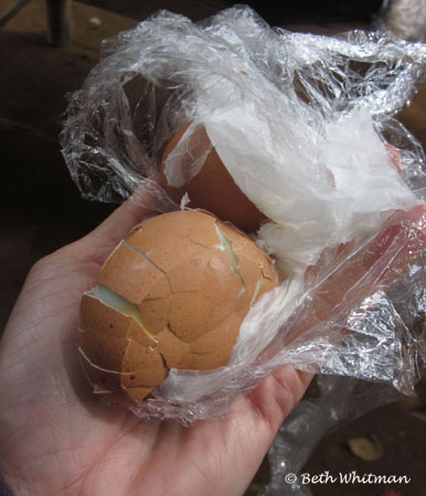 Hard boiled Egg in Papua New Guinea