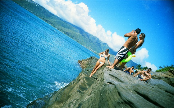 hawaii cliff