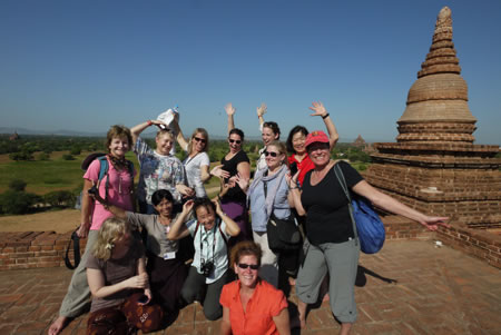 Group in Bagan Myanmar