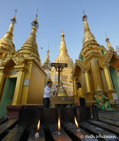 Shwedagon Pagoda Candles