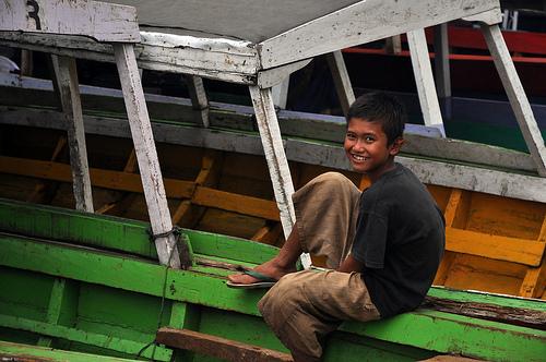 Fisherman's Son on Boat