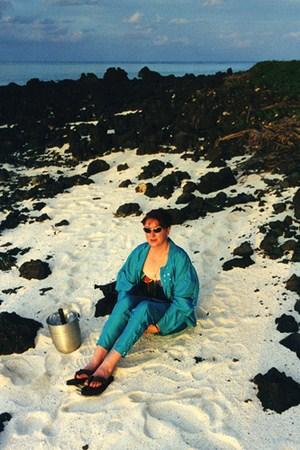 Woman at Comoro Beach