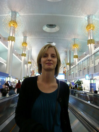 Woman in Dubai Airport