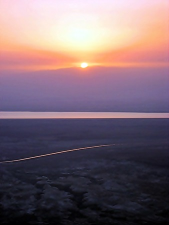 View from Masada at Dawn