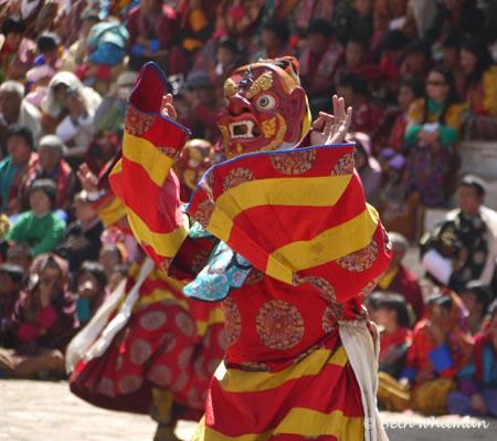 Paro Dancers in Bhutan