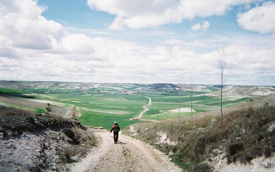 downhill walking