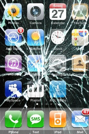 iphone crushed