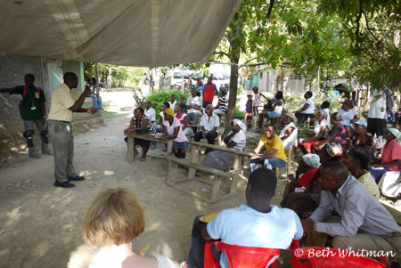 Community Meeting in Haiti