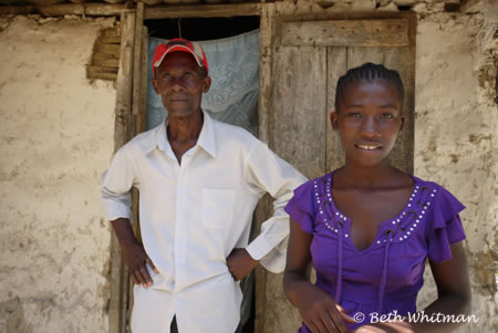 Woman and Father in Haiti