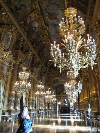 Woman in Palais Garnier