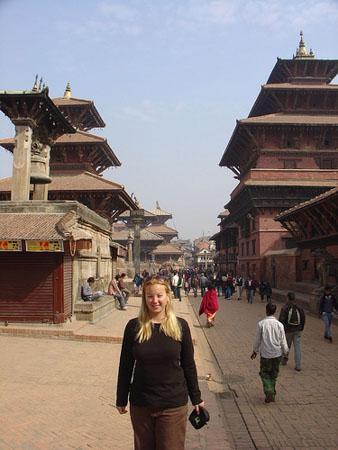 Female Tourist at Durbar Square