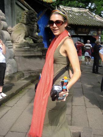 Female Tourist in China